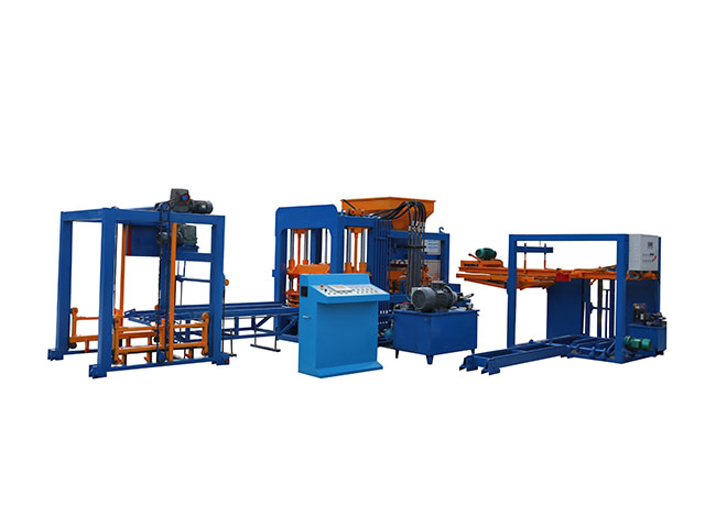 QT4-15 Automatic Concrete Cinder Hollow Block Making Machine, Color Paved Brick Machine