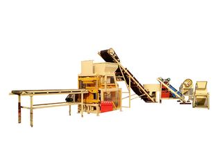 QT4-10 full automatic hydraulic clay interlocking brick making machine